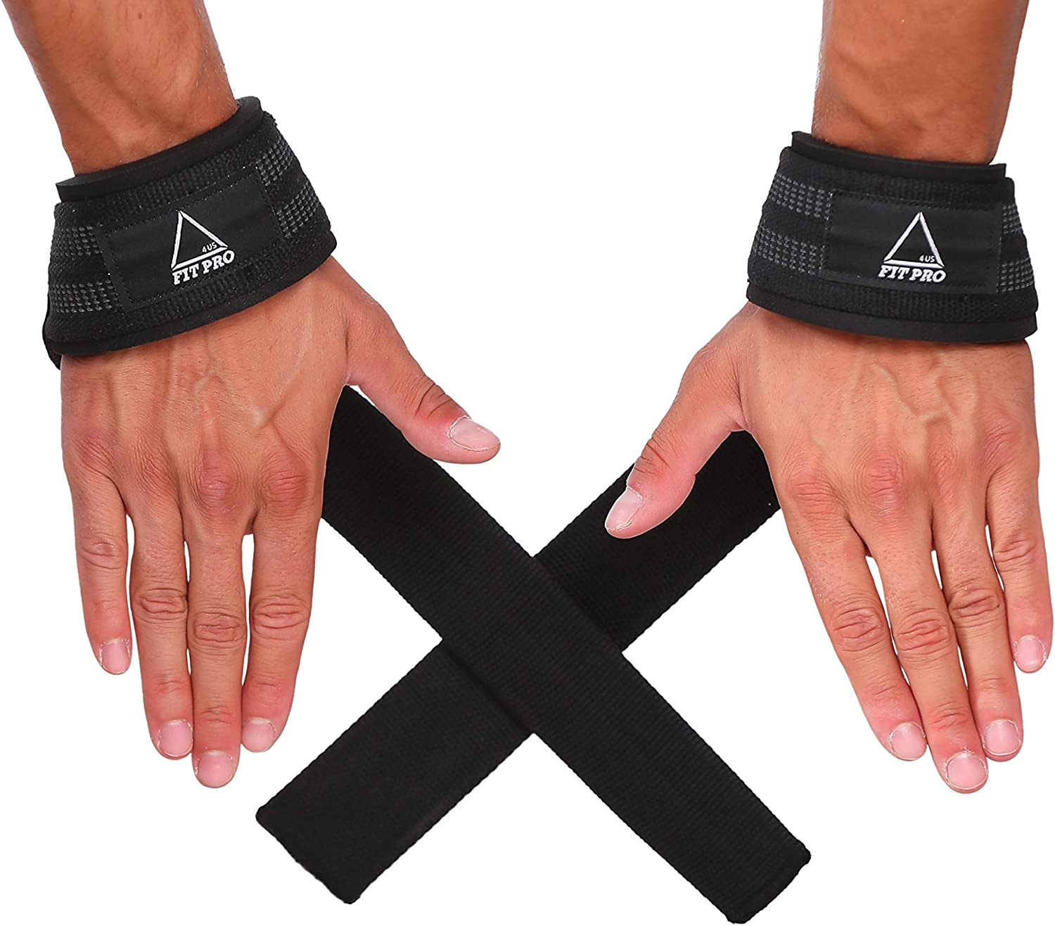 "Amazon.com : Fitpro4us Lifting Straps for Weightlifting 24""(Pair) Deadlift  Straps Neoprene Padded Wrist Straps & No-Slip Rubber Insertion for  Powerlifting, Bodybuilding, Heavy Lifting & Strength Training : Sports &  Outdoors"