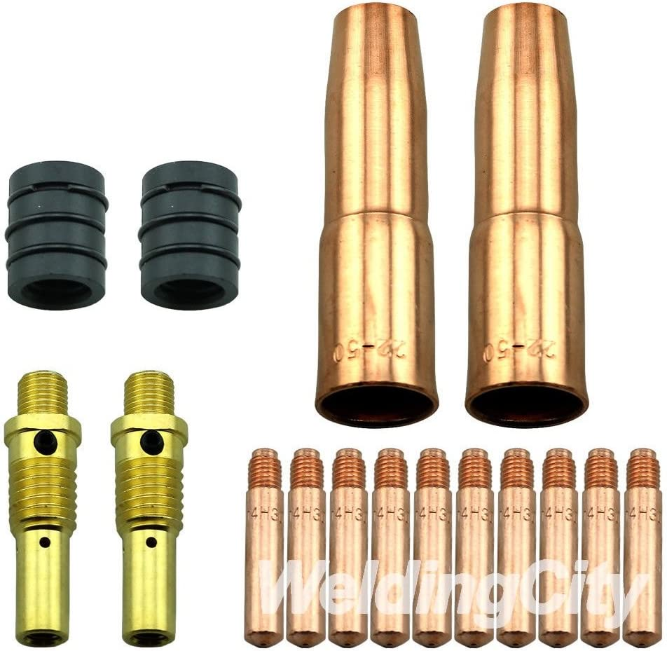 WeldingCity 5 Gas Nozzles 22-62SS 22-62-SS 5//8 for Lincoln Magnum and Tweco MIG Welding Guns