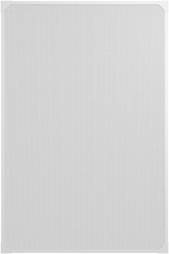 easy life Moustiquaire en PVC avec cadre magn/étique pour fen/êtres facile /à instaler sans per/çage et individuellement raccourcissable Couleur:Blanc Taille:100 x 120 cm