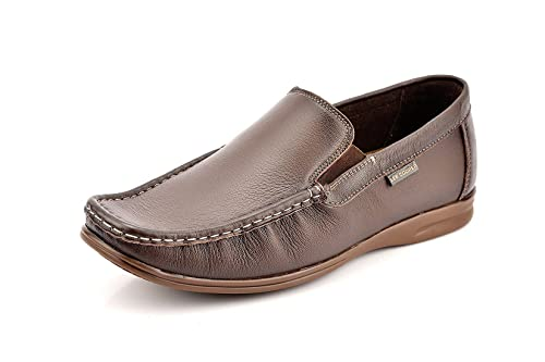 5c74eb88eb Lee Cooper Men's Leather Loafers-6 UK/India (40EU) (LC2301 Brown ...