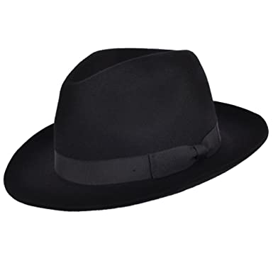 71f2ced96436a Gladwinbond Gladwin Bond Quality Hand Made Fedora Trilby Hat with Matching  Band 100% Wool  Amazon.co.uk  Clothing