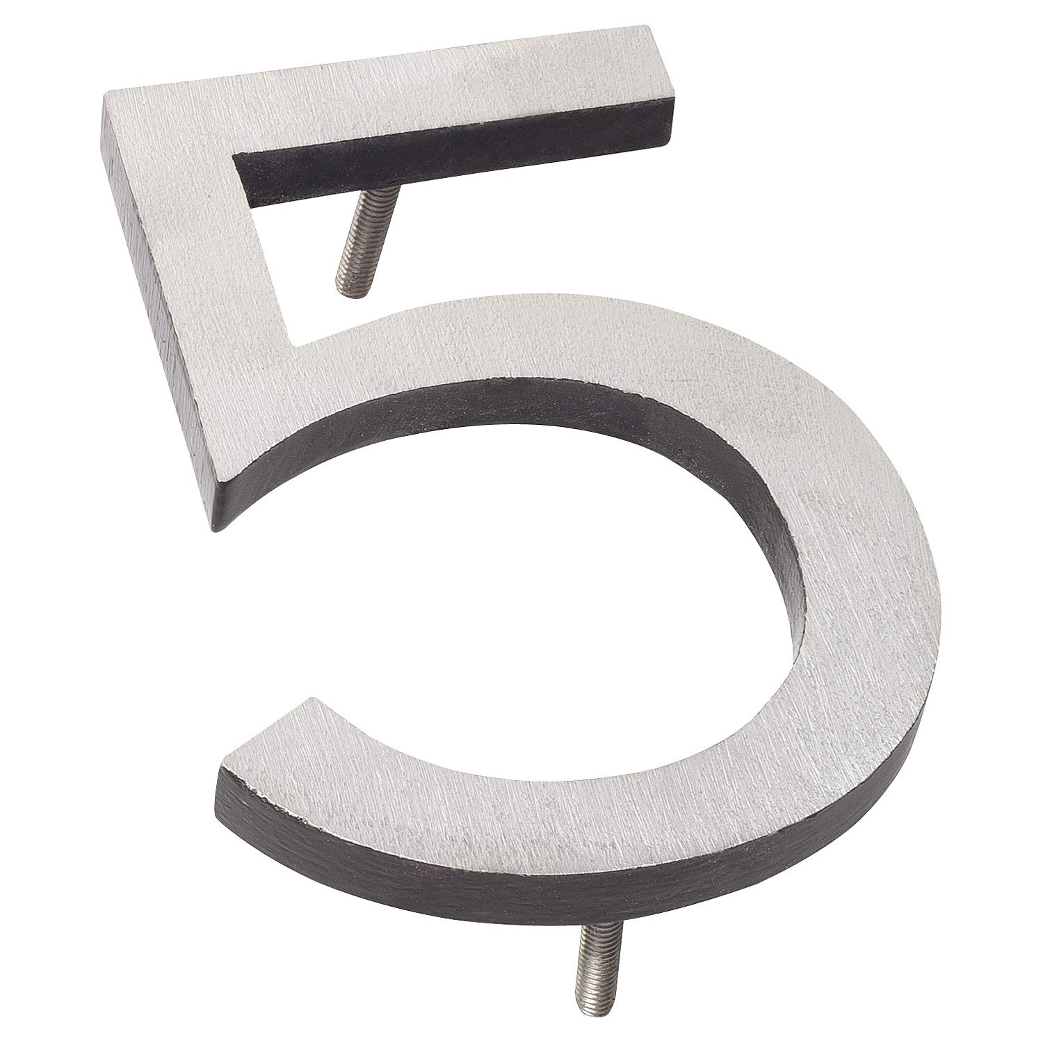 Montague Metal Products MHN-10-5-F-BK2 Floating House Number, 10 inches x 7.5 inches x 0.375 inches, Black Two Tone