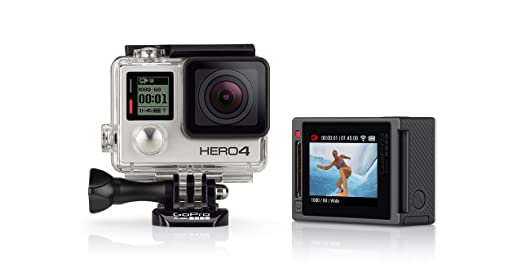 221 opinioni per GoPro HERO4 Silver Edition Adventure Videocamera 12 MP, 4K/15 fps, 1080p/60 fps,