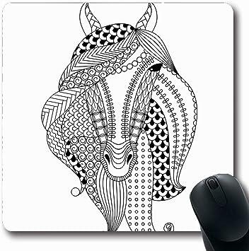 Alfombra Oblonga Creación Zentangle Handdrawn Caballo ...