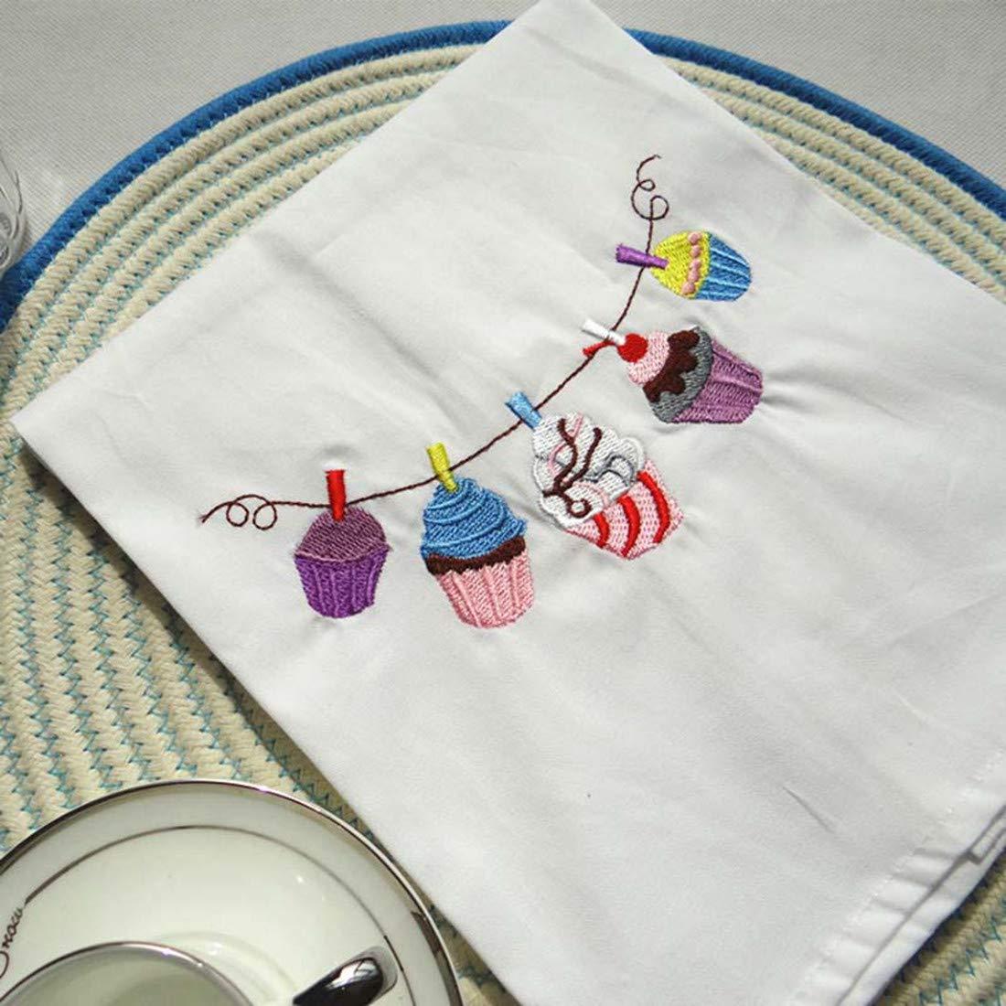 吸水性刺繍布テーブルナプキン キッチンティータオル 写真小道具 6枚 45x70cm JOPLL-BCJ126-A  A B07HKCJGXJ