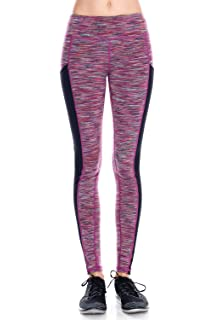 d8f960de83928 Mono B Women's Slim Fit Performance Activewear - Printed Yoga Leggings