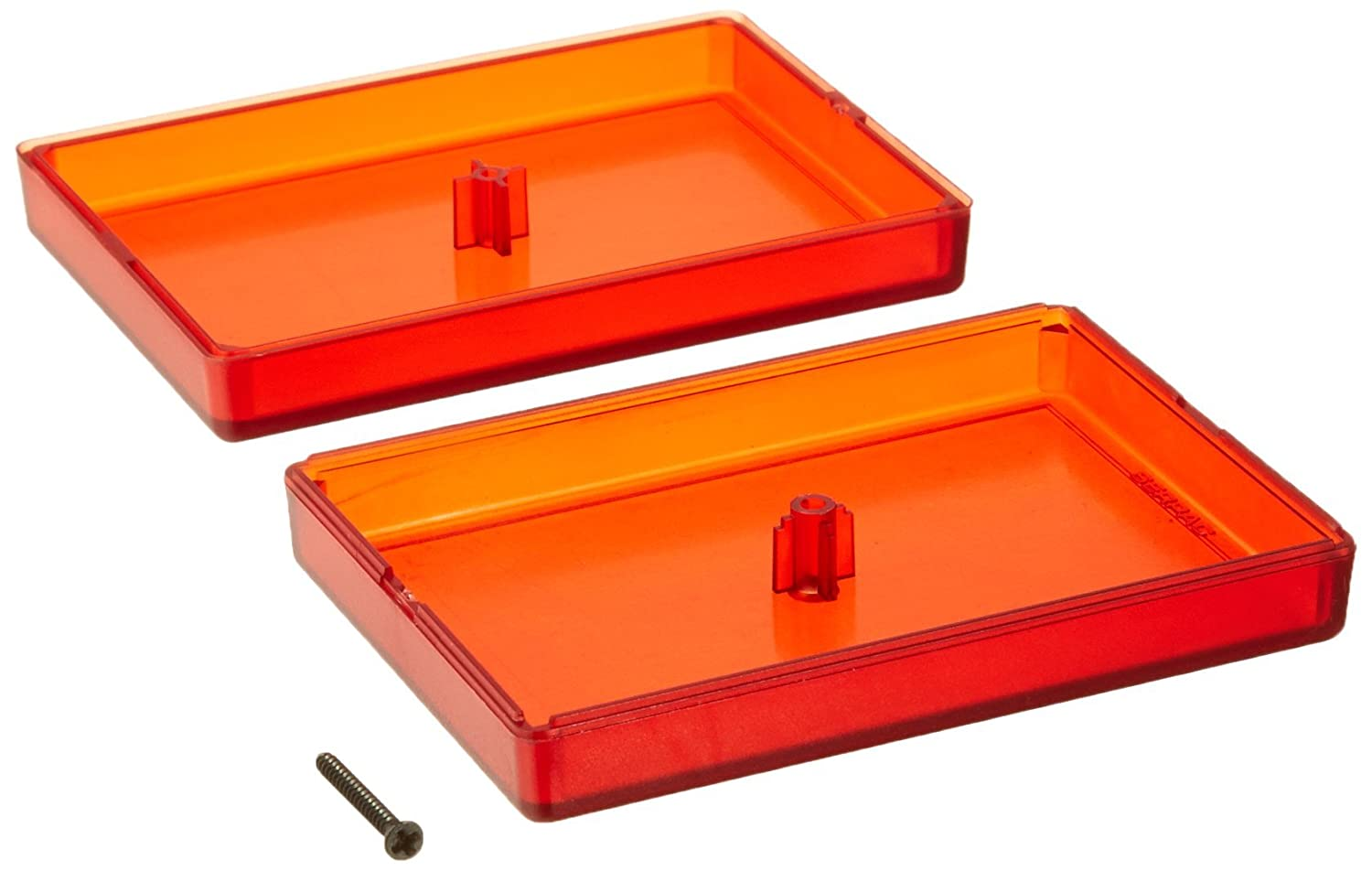 Serpac C10 ABS Plastic Enclosure 2.30 Length x 3-1//4 Width x 0.80 Height Translucent Red