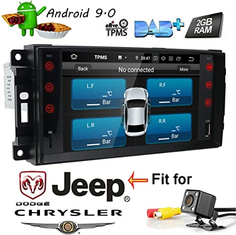 Double Din Car Stereo Radio Kit for select Dodge Caliber Jeep Compass Patriot