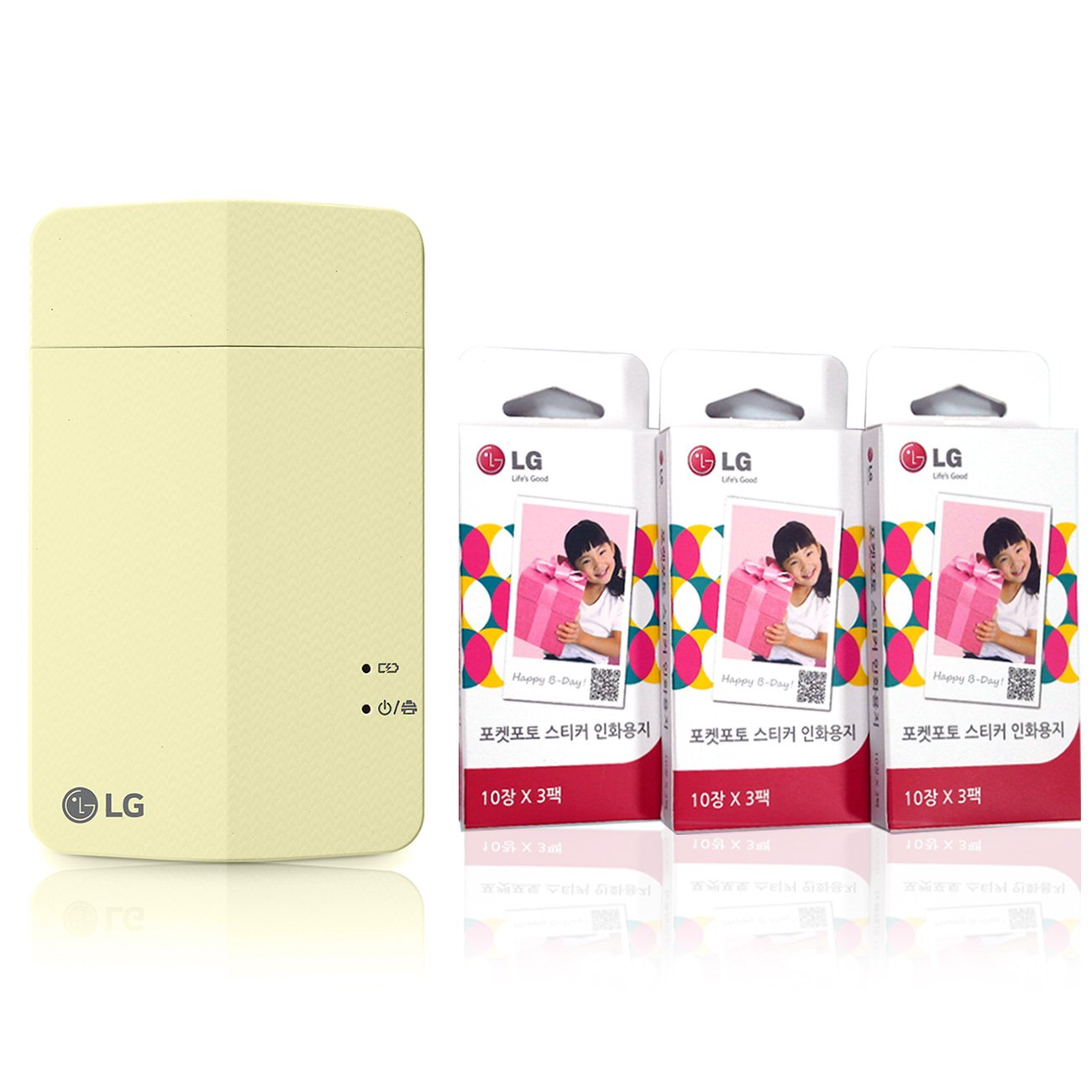 impresora + Papel Set] nuevo LG impresora de fotos de bolsillo 3 ...