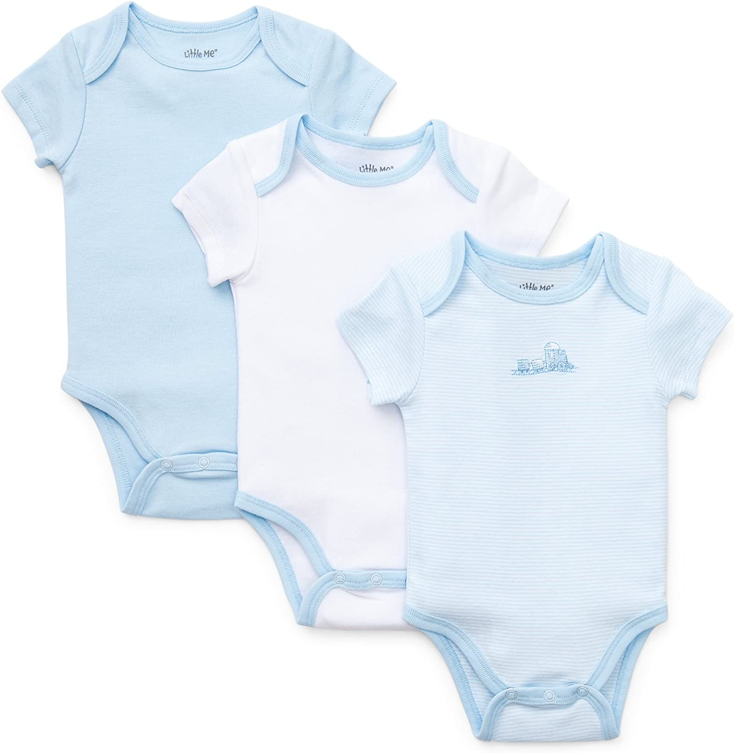 Little Me Boys 3-Pack Bodysuits