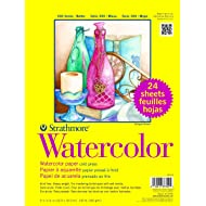 """Strathmore 361-9 300 Series Watercolor, 9""""x12"""", Cold Press, 24 Sheets per Class Pack"""