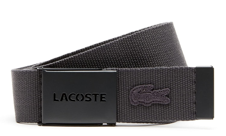LACOSTE Gift Box 2 Woven Strap W110 Graphite  Amazon.fr  Chaussures et Sacs 9f7ebff84fe