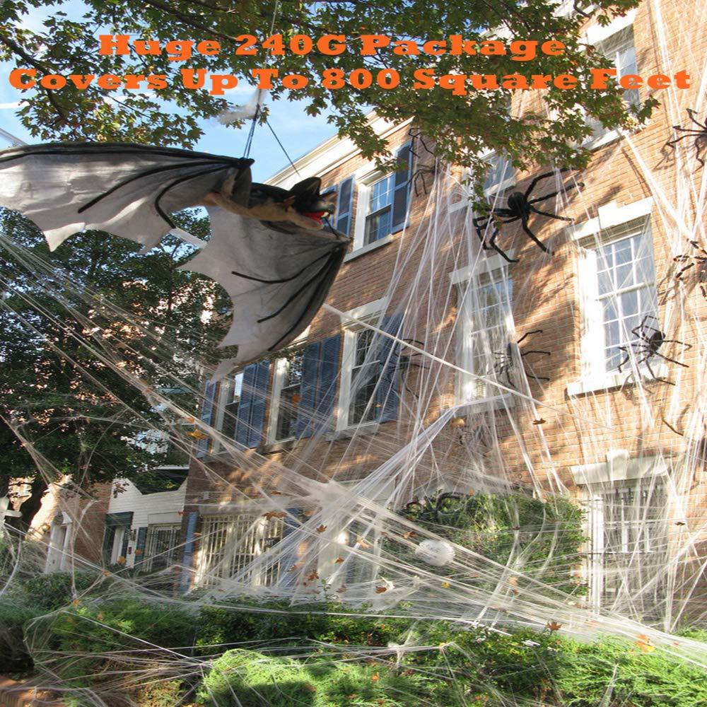 Halloween Stretchy Spider Webs 800 Square Feet 240 Gram Indoor