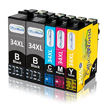 OfficeWorld Cartuchos de tinta con alta capacidad para Epson ...