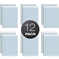 """TOPS Prism Writing Pads, 8-1/2"""" x 11-3/4"""", Legal Rule, Blue, Perforated, 50 Sheets, 12 Pack (63120)"""