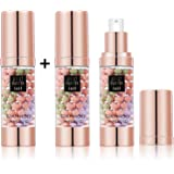 SIAMHOO One Step Face Primer Makeup Tricolor Tinted Moisturizer Skin Tone Correcting and Brightening Primer for Glowing and F