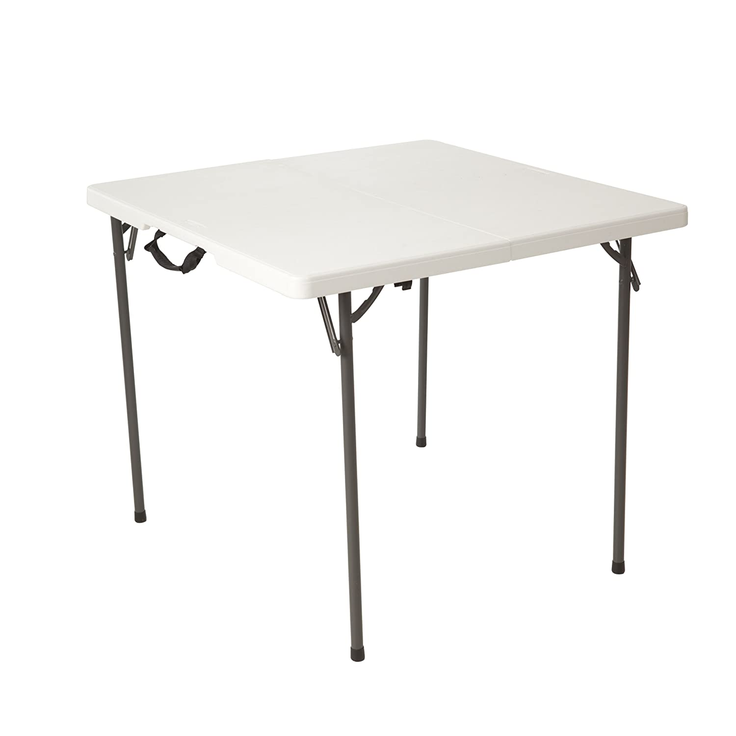 Amazon.com: Lifetime 80273 Fold in Half Square Table, 34 Inch, White ...