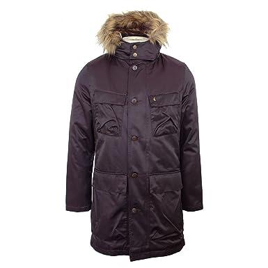 edcd1dd50af5 Gabicci Vintage Parka Jacket Mens Mulberry Faux Fur Lined Hooded Fishtail  Coat  Amazon.co.uk  Clothing