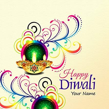 Personalized Traditional Diwali Festival Photograph Gift Tags Card Label For Party