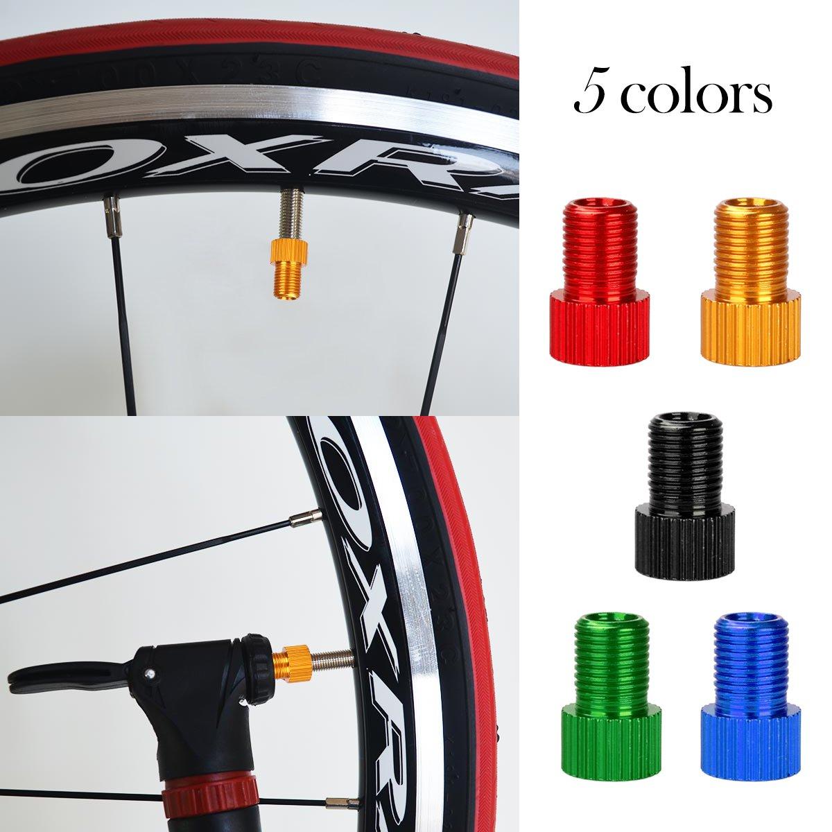 WINOMO 10pcs Adaptador de Válvula Bici Bomba Convertidor de Valvula Presta a Schrader para Bicicleta: Amazon.es: Deportes y aire libre