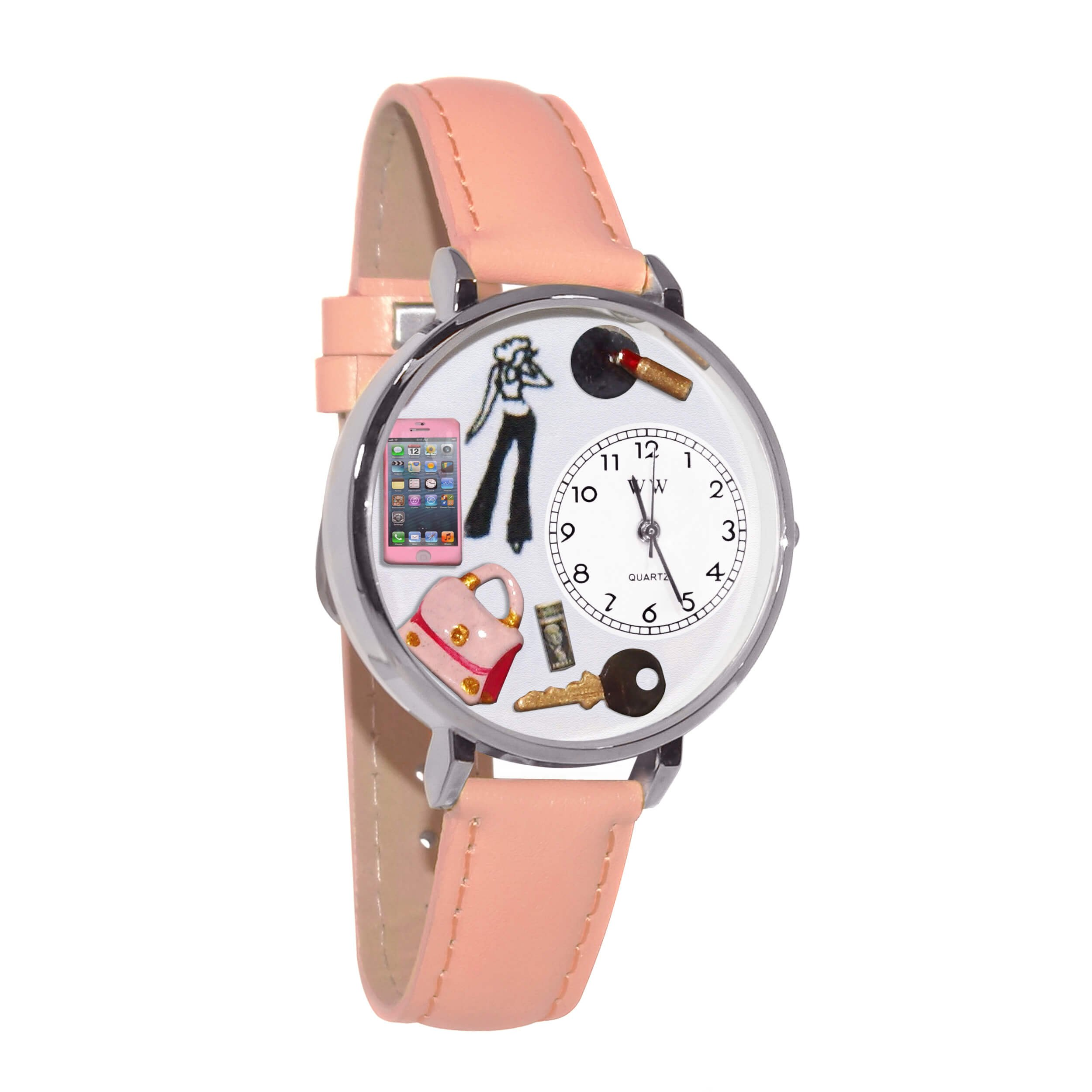 Whimsical Watches Unisex U1610008 Teen Girl Pink Leather Watch