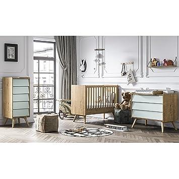 Chambre complète lit bébé 60x120 - commode à langer - chiffonnier ...