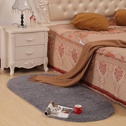 Ukeler Fluffy Floor Runner Rugs Non-Slip Carpets for Sofa Boys Bedroom Rug  Grey High Pile Living Room Carpet,31.5\'\'×63\'\', Grey