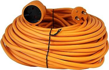 Voltman VOM530455 - Cable eléctrico alargador jardin, 25 m: Amazon ...
