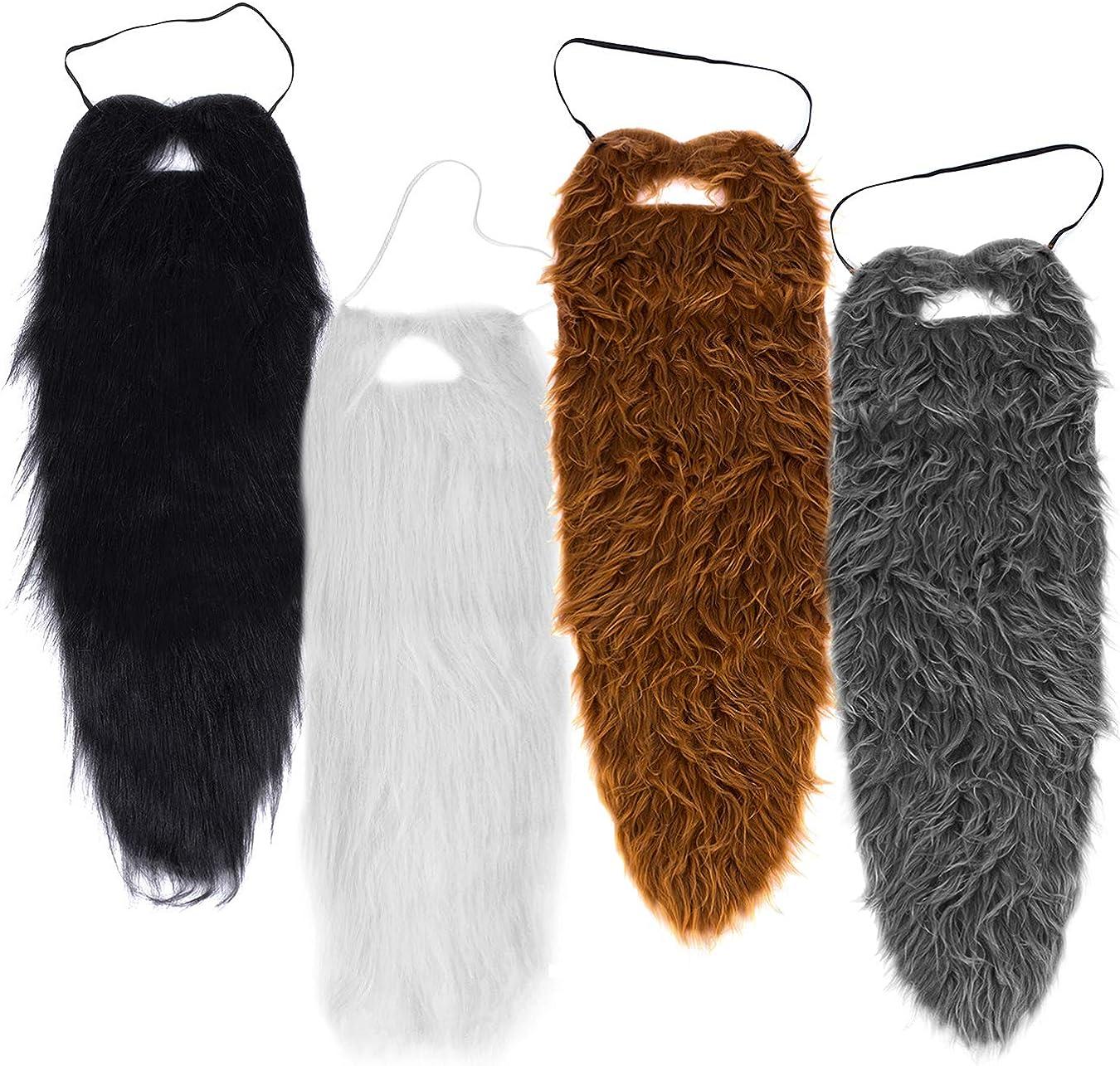 Long Faux Costume Beard and Mustache Set
