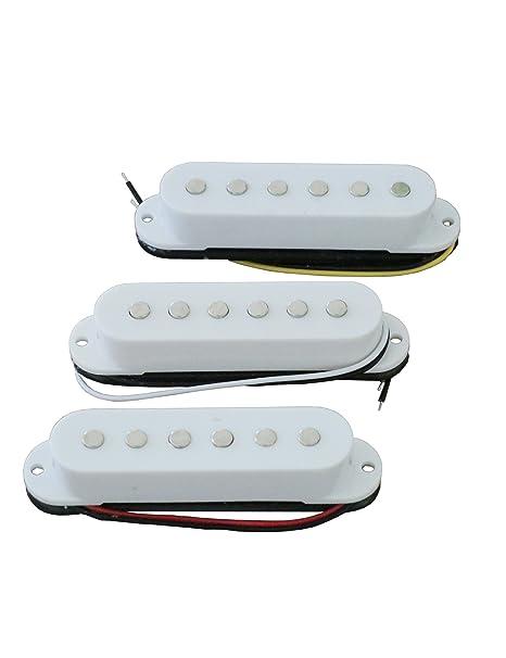 Electric Guitar Pickup Set of Three White Alnico Single: Amazon in
