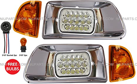 6 inch LED 2007 Kenworth T300 Side Roof mount spotlight Driver side WITH install kit -Chrome