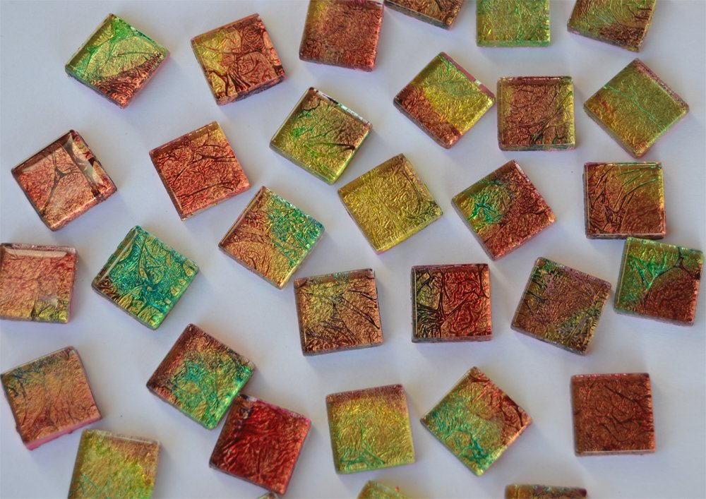 Buntmix aus 4 Farbmuster 30 St/ück Crystal Mosaiksteine auff/älliges Muster 2x2cm ca.110g Farbauswahl