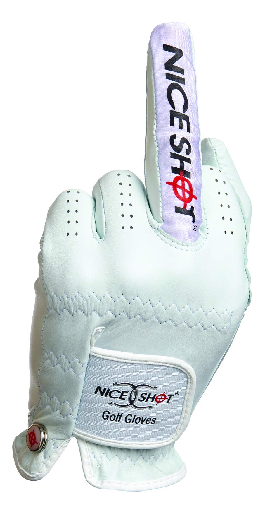 Nice Shot The Bird Cabretta Leather Golf Glove