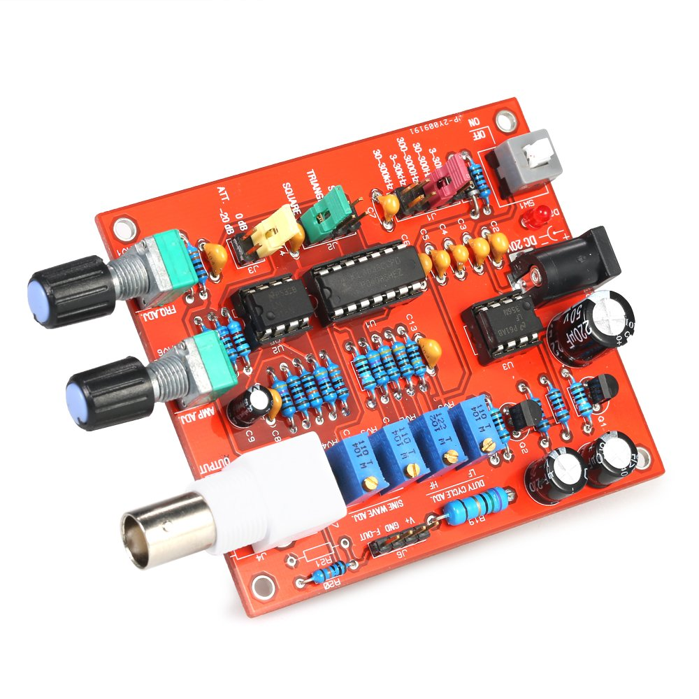 KKmoon FG8038(ICL8038) Function Signal Generator Module DIY High Precision for Square/Triangle/Sine Wave Output 3Hz-300kHz Adjustable Frequency Amplitude IFMSSVHU3611
