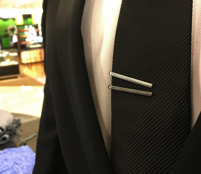 BMC 8pc Stylish Ultra Thin Mixed Metal Finish Bobby Pin Styled Tie Bar Set by b.m.c (Image #3)