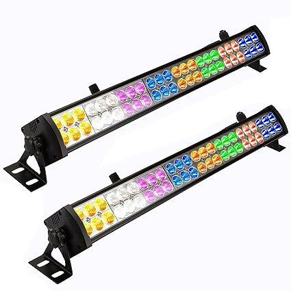 Amazon eyourlife 2 pcs 48 x 3 w led wash wall light bar dj eyourlife 2 pcs 48 x 3 w led wash wall light bar dj lighting dmx512 3 aloadofball Choice Image