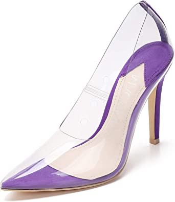 New Women/'s Classic Neon Color Pointy Toe Pump Single Sole Stiletto High Heel