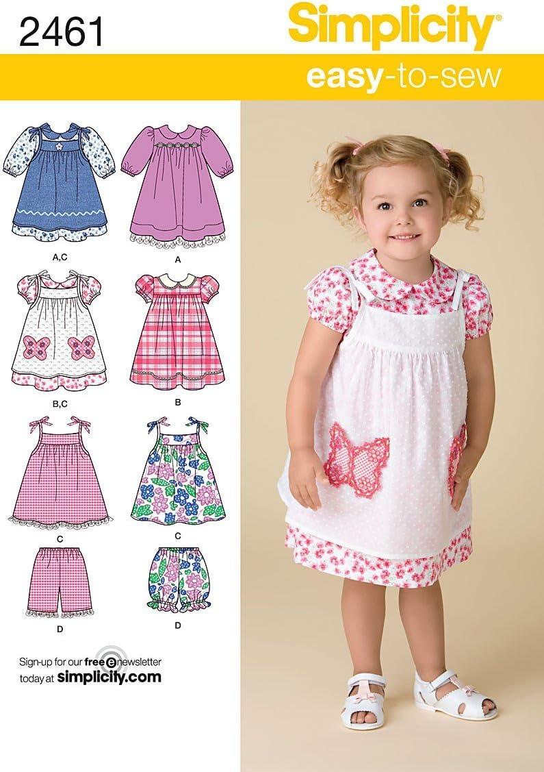 MAKES DRESS~SUNDRESS~SHORTS~PINAFORE TODDLER~CHILD SIZE 1//2 TO 4 SEWING PATTERN