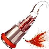 1aTTack.de Chilimühle (Scharfes Designerstück) Gewürzschneider mit Edelstahl Schneidwerk - schneidet auch andere grobe Kräuter - in Form einer Chili - sehr originell und funktionell