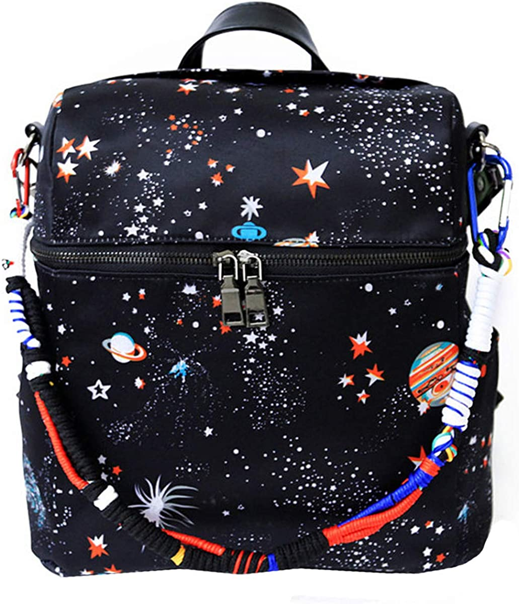 Van Caro Backpack – Multifunction Daypack Casual Travel, Black, Size ONE SIZE