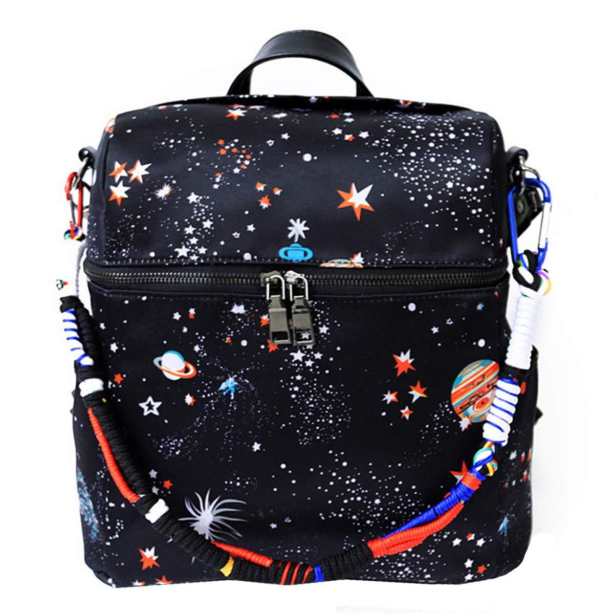 Van Caro Backpack - Multifunction Daypack Casual Travel Hiking Bag Shoulder bag Bookbag for Girls(Black)