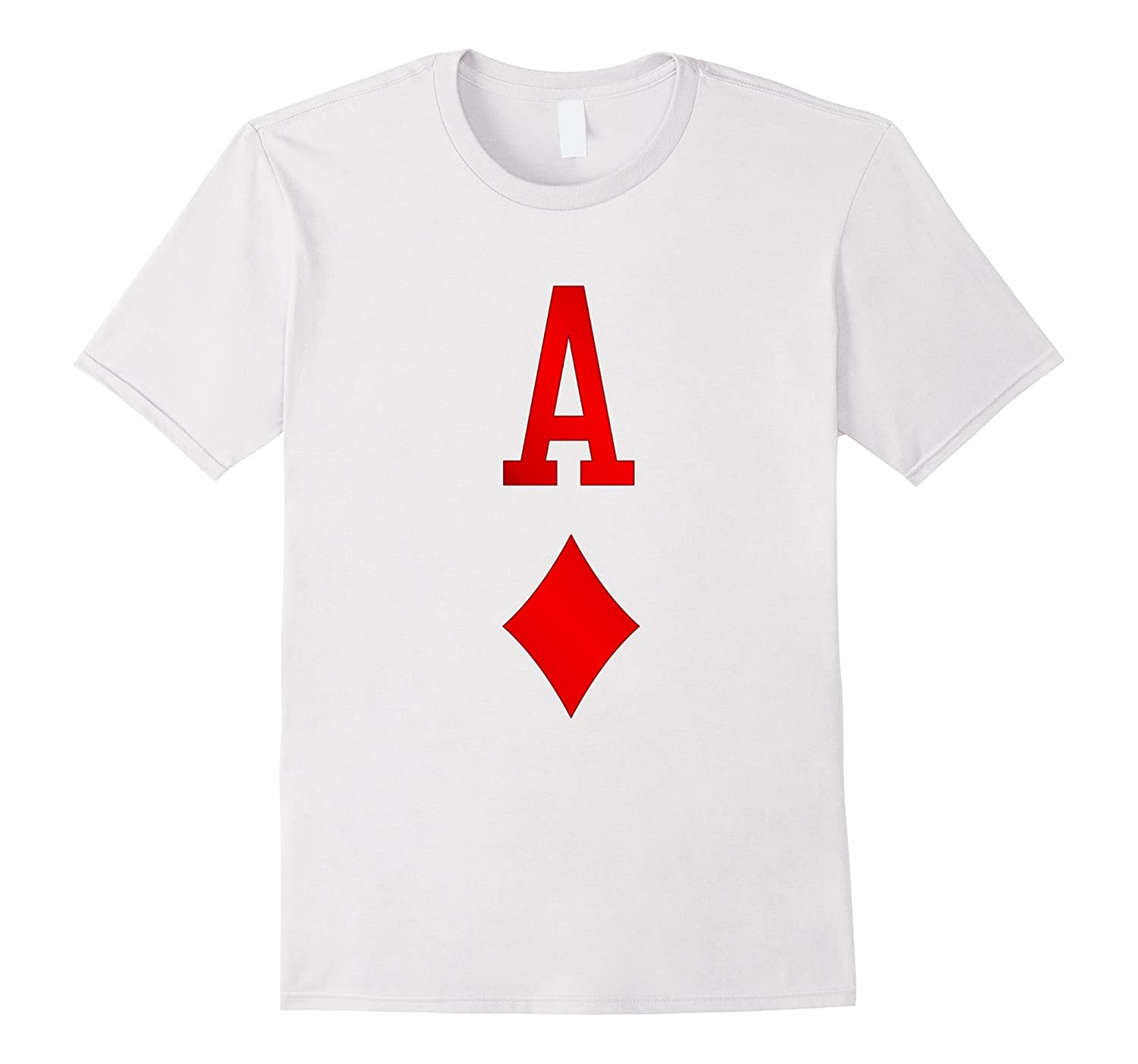 Playing Cards Costume, Halloween Ace of Diamonds Tee Shirt-FL