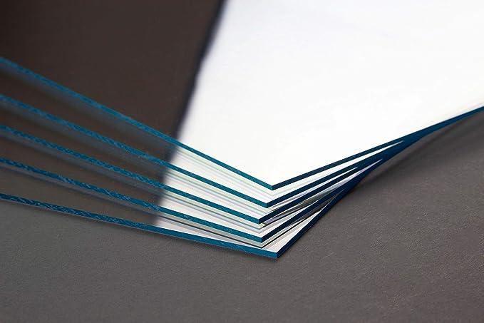 Homedeco-24 Kunstglas 1 mm Klar Durchsichtig 46 x 61 cm Zuschnitt Polystyrol Ersatzglas Scheibe Transparent