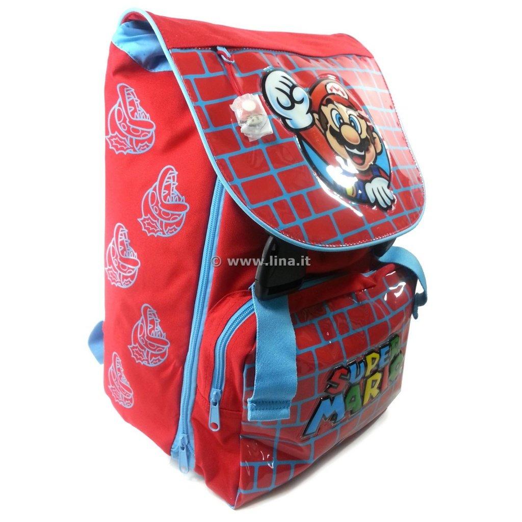 34e404186c Zaino Scuola Estensibile Super Mario Wall Rosso Scuola 2014/2015 -  01058088R: Amazon.it: Scarpe e borse