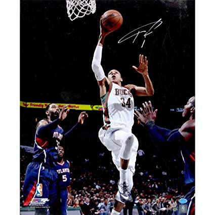 Image Unavailable. Image not available for. Color  Giannis Antetokounmpo  Autographed Signed Milwaukee Bucks ... 62f685c94