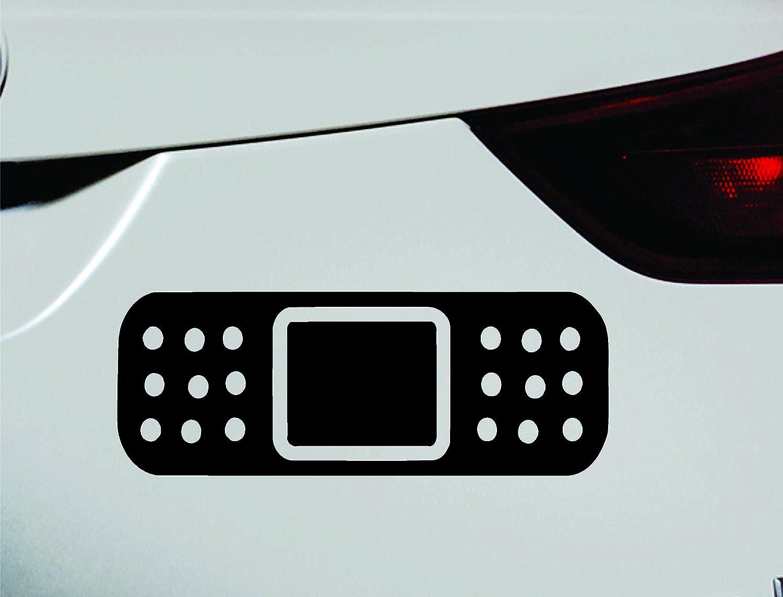 Amazon com band aid symbol decal funny car truck sticker window black automotive