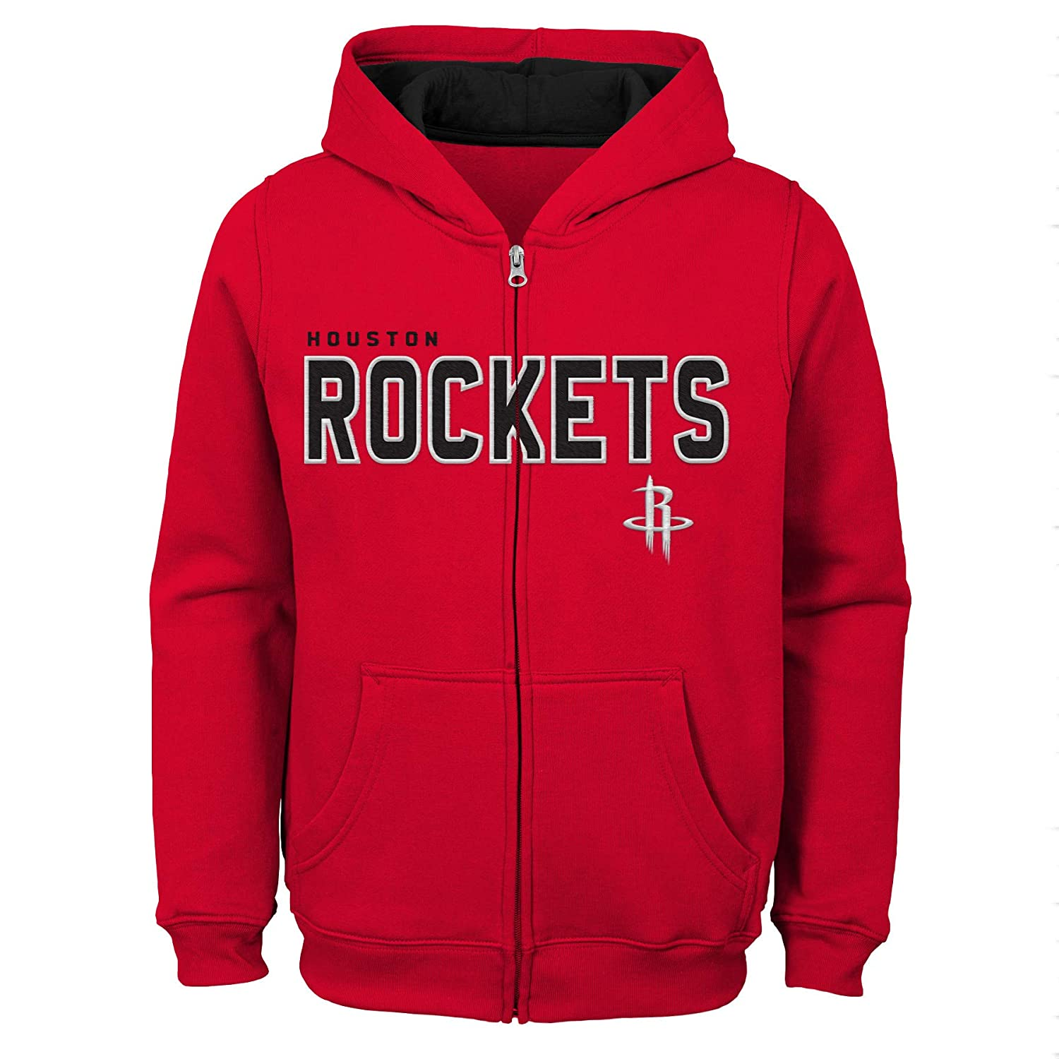 Red 4 NBA by Outerstuff NBA Kids /& Youth Boys Houston Rockets Stated Full Zip Fleece Hoodie Kids Small