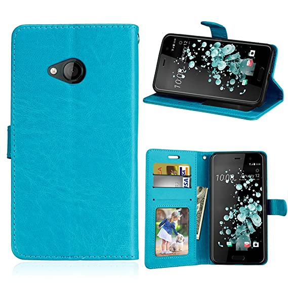 60cd2945d8996e Image Unavailable. Image not available for. Color  HTC U Play Leather  Wallet Case with ...