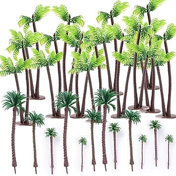 Mini Bureau Paysage Verdoyant 12pcs Arbre Maison Decoration Cocotiers ModèlesPalmiers Serwoo Jardin WIYEDH29eb
