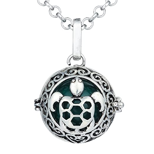 Amazon bonnie turtle tortoise music chime locket angel caller bonnie turtle tortoise music chime locket angel caller ball pendant charm necklace for women dark mozeypictures Choice Image